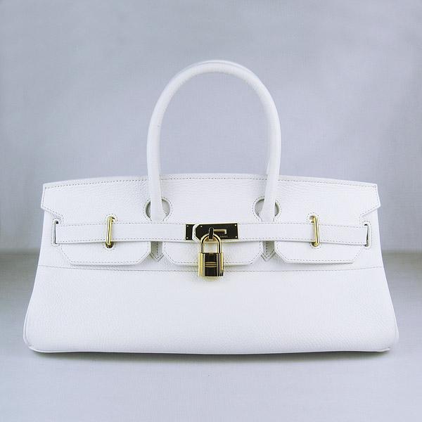Hermes Birkin 6109 Togo Leather Bag White 42cm Gold