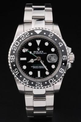 Rolex GMT-Master II Black Stainless Steel Men Watch-RM2418