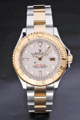 Rolex Yacht-Master II Golden Bezel&White Surface Watch-RY3746