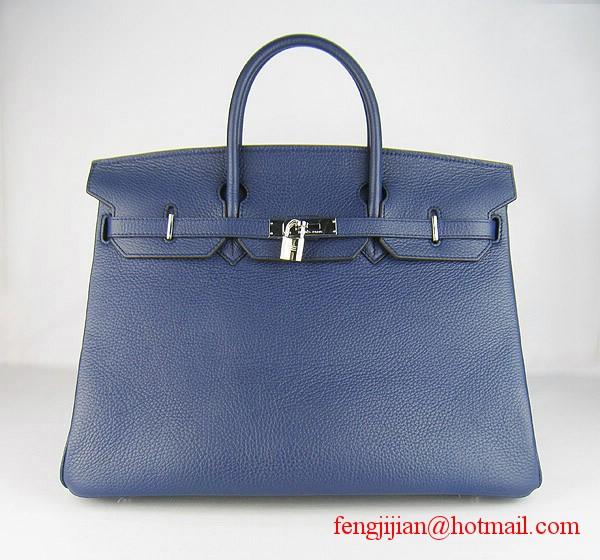 Hermes Birkin 40cm Togo Bag Dark Blue 6099