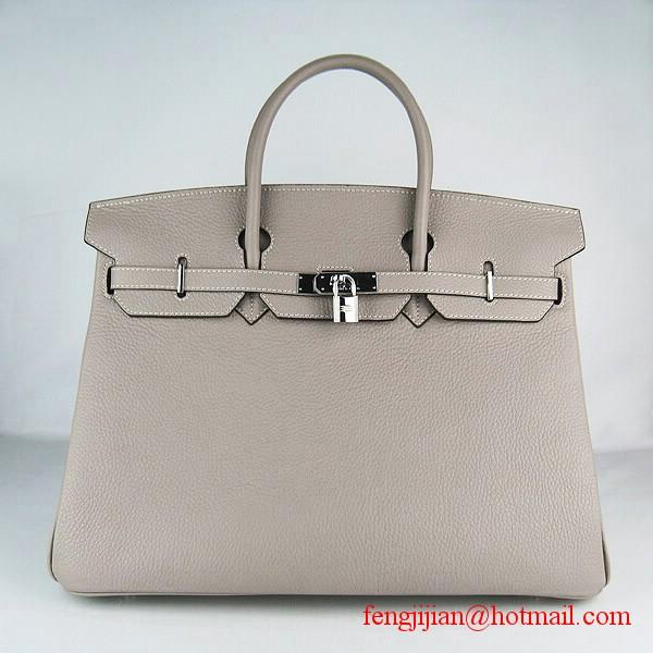 Hermes Birkin 40cm Togo Bag Grey 6099