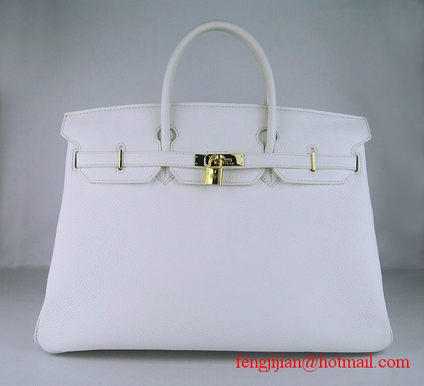Hermes Birkin 40cm Togo Bag 6099 Light White gold padlock