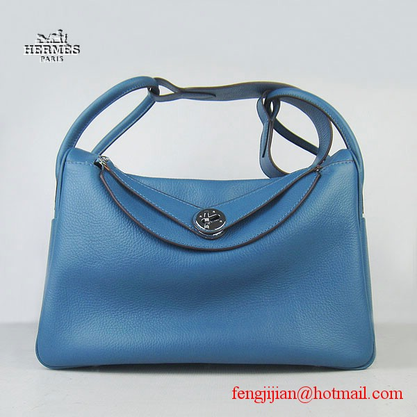 Hermes Lindy Women Shoulder Bag Blue 6208