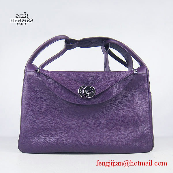 Hermes Women Shoulder Bag Light Purple 6208