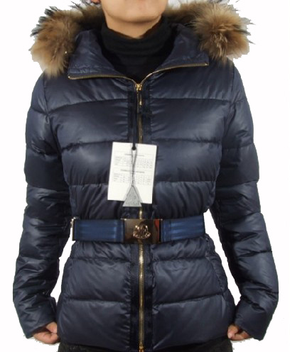 Moncler Angers Womens Elted Down Jacket Navy