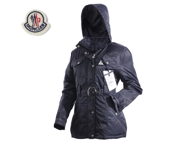 Moncler Womens Down Jacket Navy