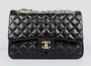 Chanel 2.55 Quilted Flap Handbag A1112 Black with Gold Hardware