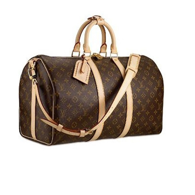 Louis Vuitton Monogram Canvas Keepall 45 With Shoulder Strap M41418